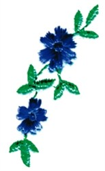 Asters embroidery design