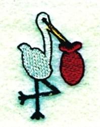 Stork & Bundle embroidery design