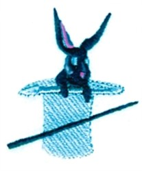 Rabbit In Hat embroidery design