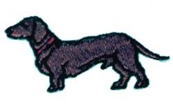 Cartoon Dachshund embroidery design