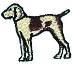 Cartoon Terrier embroidery design