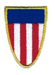 American Flag Shield embroidery design