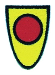 Red Dot Shield embroidery design