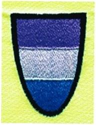 Striped Shield embroidery design