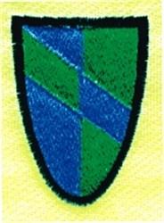 Stripe Shield embroidery design