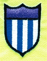 Striped Patch embroidery design