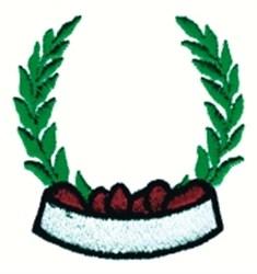 Laurel Wreath embroidery design