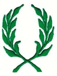 Laurel Branch Wreath embroidery design