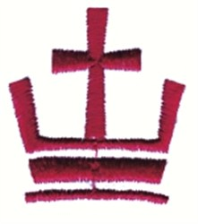 Crown with Cross embroidery design