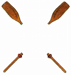 Crossed Oars embroidery design