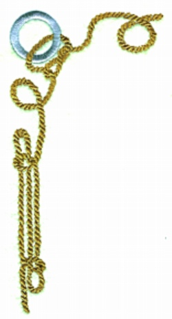 Nautical Rope embroidery design