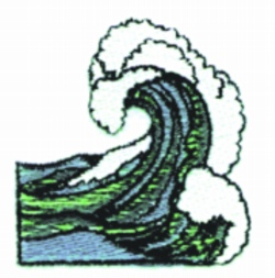 Wave embroidery design