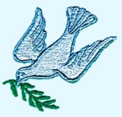 Cartoon Dove embroidery design