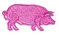Cartoon Pig embroidery design