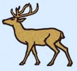 Cartoon Elk embroidery design