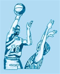 Basketball Players embroidery design