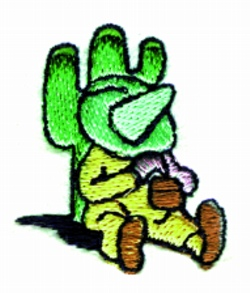 Sleeping Mexican embroidery design