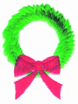 Wreath embroidery design
