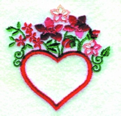 Gingham Heart embroidery design