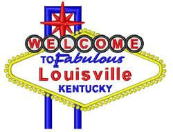 Louisville, Kentucky embroidery design