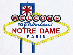 Notre Dame, Paris embroidery design