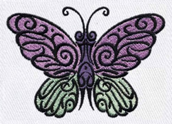 Butterfly Tattoo embroidery design