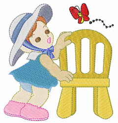 Baby with Chair embroidery design