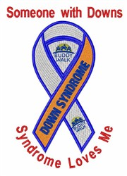 Down Syndrome Awareness embroidery design