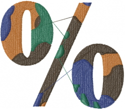 Camo Font % embroidery design
