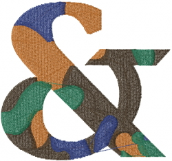 Camo Font & embroidery design