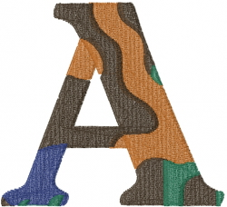 Camo Font A embroidery design