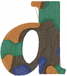 Camo Font d embroidery design