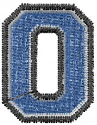 Varsity Regular Font 0 embroidery design
