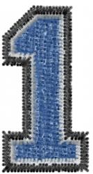 Varsity Regular Font 1 embroidery design