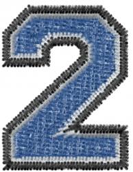 Varsity Regular Font 2 embroidery design