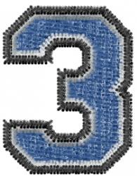 Varsity Regular Font 3 embroidery design