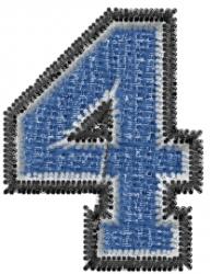 Varsity Regular Font 4 embroidery design