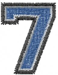 Varsity Regular Font 7 embroidery design