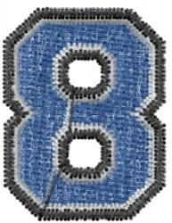 Varsity Regular Font 8 embroidery design