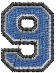 Varsity Regular Font 9 embroidery design