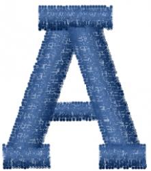 Varsity Regular Font A embroidery design