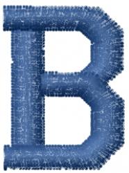 Varsity Regular Font B embroidery design