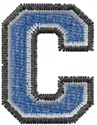 Varsity Regular Font C embroidery design