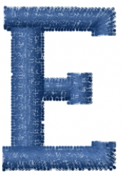 Varsity Regular Font E embroidery design