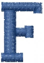 Varsity Regular Font F embroidery design