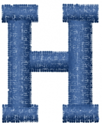 Varsity Regular Font H embroidery design