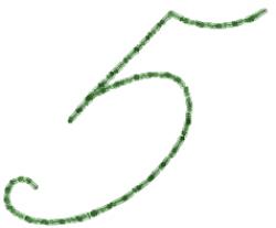 Old Script Font 5 embroidery design