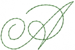 Old Script Font A embroidery design