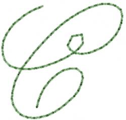 Old Script Font C embroidery design