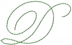 Old Script Font D embroidery design